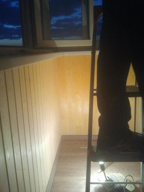 обшивка балкона - процесс