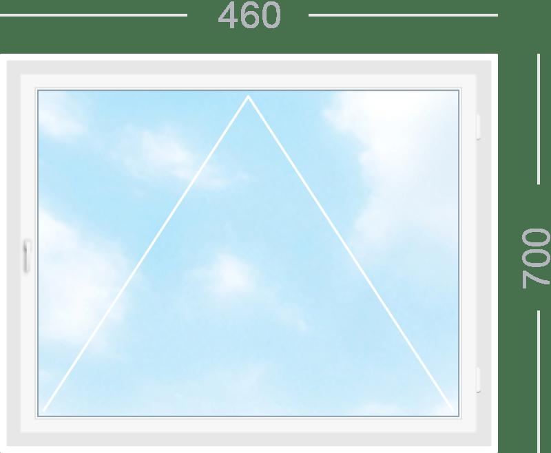 Одностворчатое откидное окно (Фрамуга)