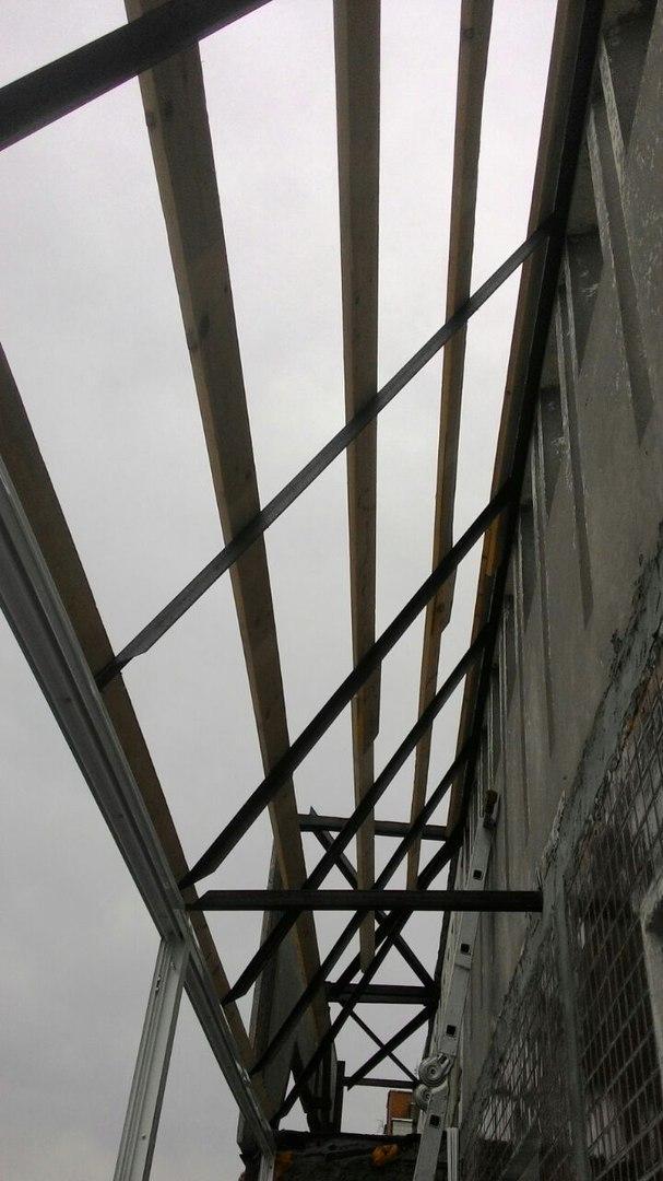 балкон с крышей - ход работы