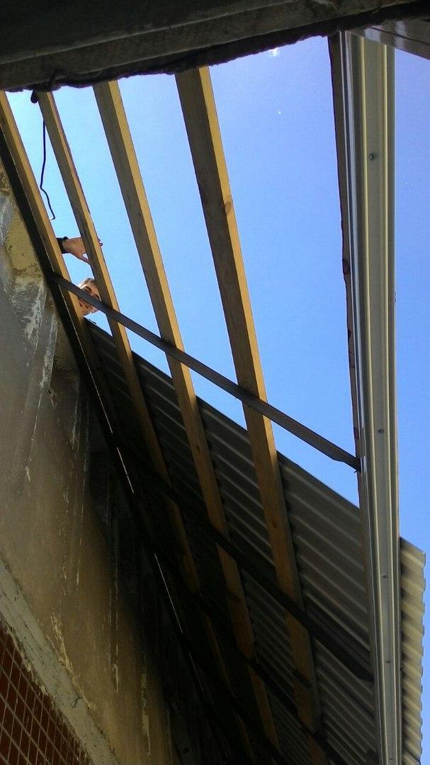 остекление с крышей - пример работы