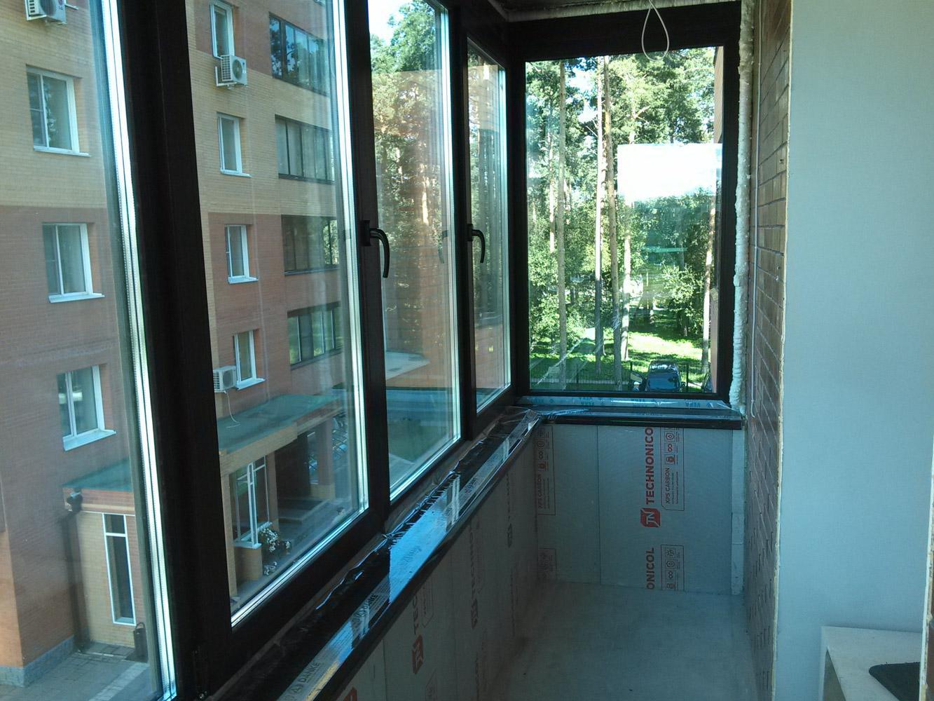 Остекление и утепление балкона - ход работы