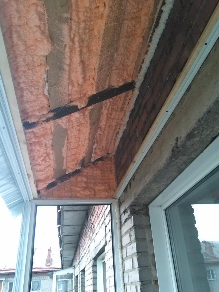 остекление балкона с крышей - пример работы