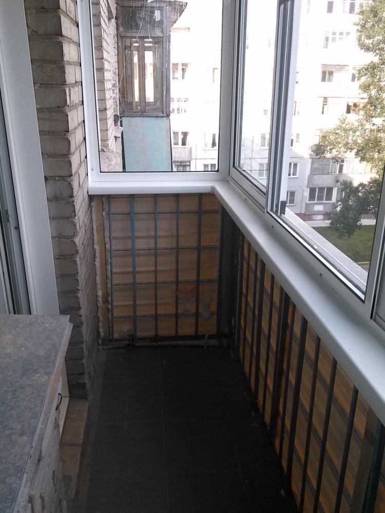 отделка балкона - ход работы