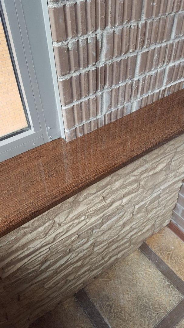отделка балкона - фото