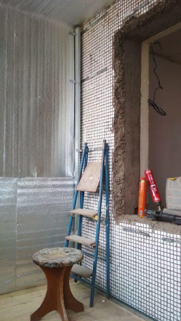 1 этап отделки балкона