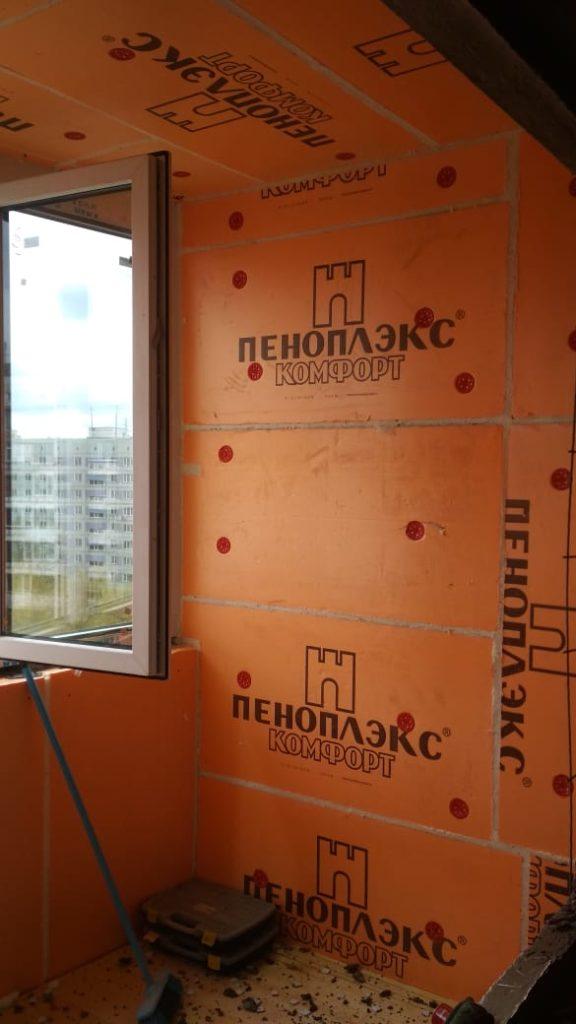2 этап отделки балкона
