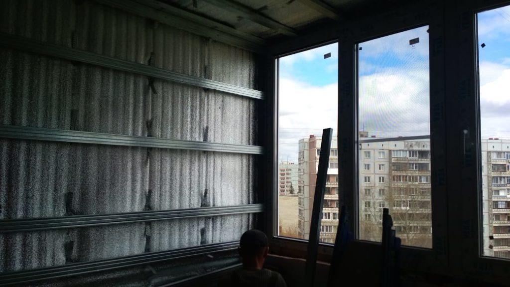 3 этап отделки балкона